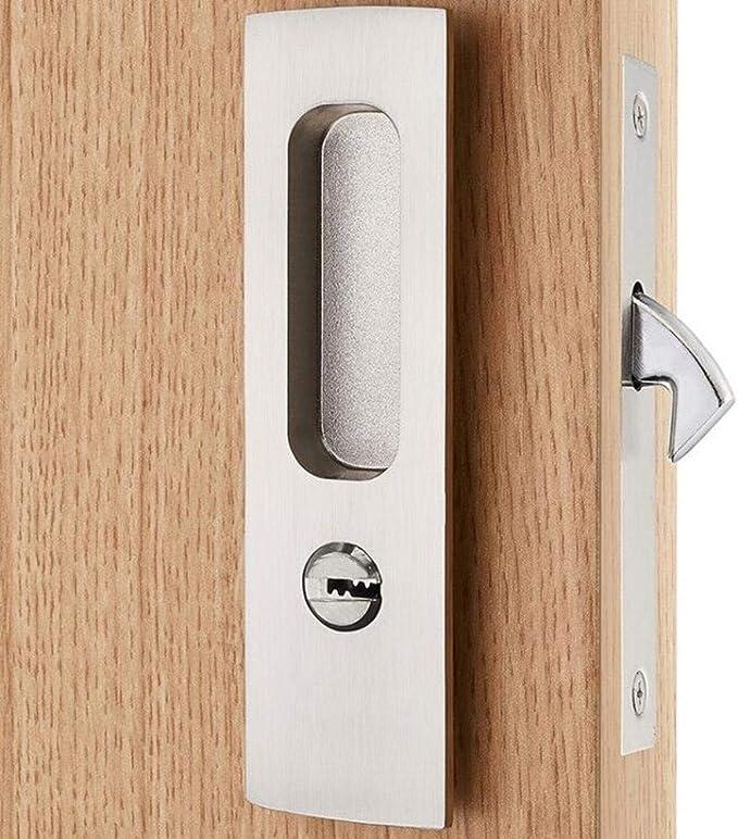 HLJ Manija de Puerta Interior Armario baño balcón corredizas Puerta corredera Doble Cara Sigilo Simple Cerradura 16 * 4 * 13.5 cm: Amazon.es: Hogar