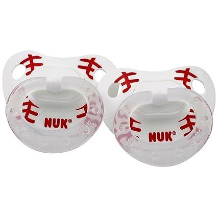 NUK Tetina deportes pacifiers- 18 - 36 meses (tamaño 3) - béisbol ...