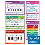 "Music Theory - Set of 5 Music Posters | Classroom Posters for Music | Gloss Paper measuring 33"" x 23.5"" 