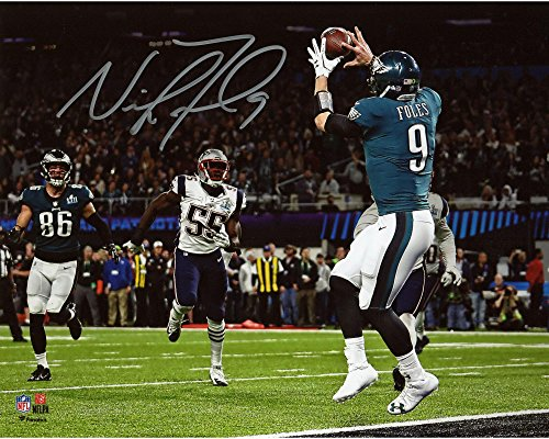 """Nick Foles Philadelphia Eagles Super Bowl LII Champions Autographed 8"""" x 10"""" Philly Special Touchdown Catch..."""
