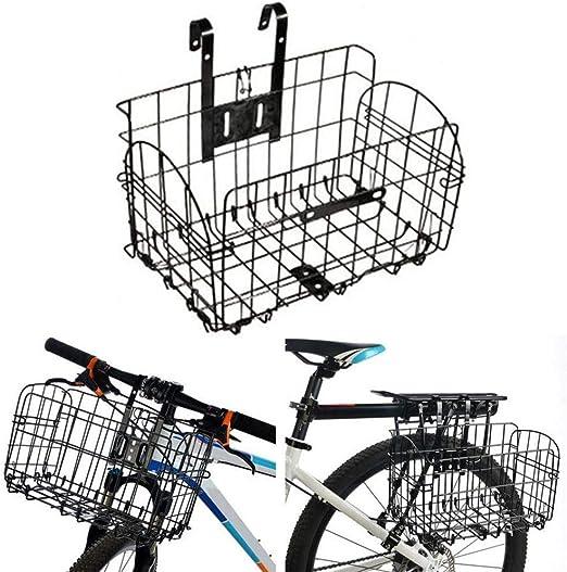 ZNN Canasta para Bicicletas: Canasta portátil Plegable para Colgar Frente a la Bicicleta, diseño de Malla, Fuerte Capacidad de Carga, Adecuada para Bicicletas y Bicicletas de montaña: Amazon.es: Hogar