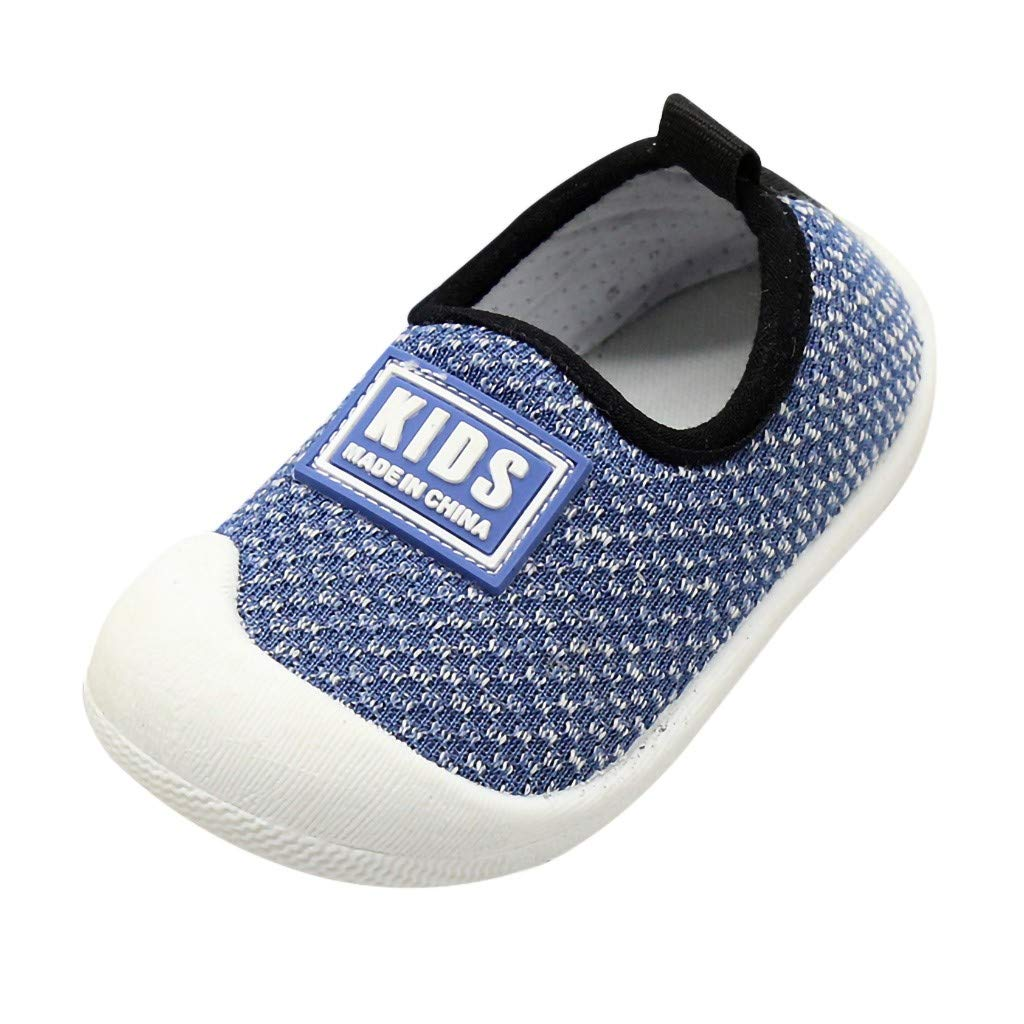 Tantisy ♣↭♣ Baby Girls Soft Comfortable ToInfant First Walker Shoes Cotton Breathable Soft Shoes Sport Shoes Blue by Tantisy ♣↭♣ Baby Shoes