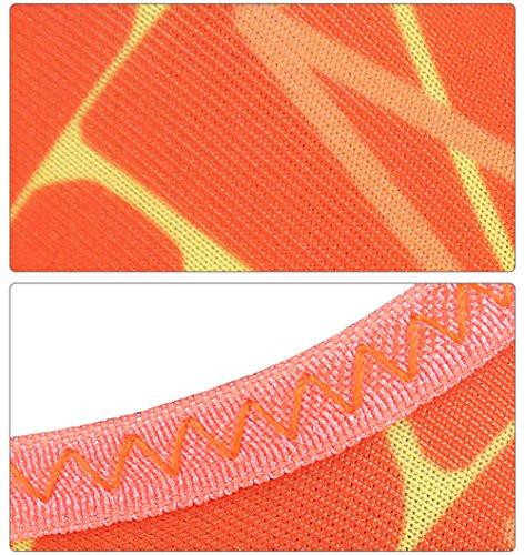 Bevalsa Chaussettes de Sport Aquatique Unisex pour Tous Les Adultes OU Les Enfants Adapté à la Natation, la Plongée Et Le Yoga Eté Dans la Plage Le Gymnase Et la Piscine Chaussures D'eau Homme Femme Orange 2