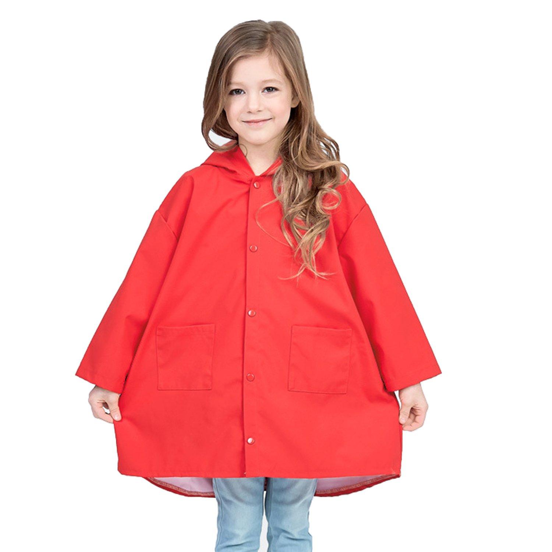 Clobeau Kids Girls Raincoat Baby Boys Girls Rain Poncho Rain Wear Cape Jacket Rain Gear Kids raincoat