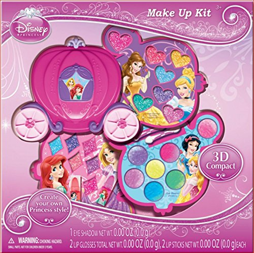 Disney Princess Makeup (Disney Princess Makeup Kit Gift Set in Slide Out Case)