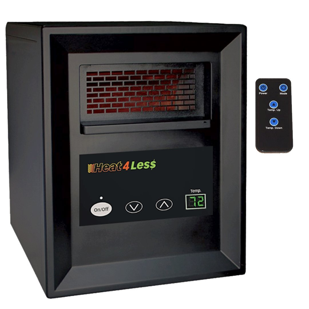Heat4Less 1000 Sqft. Electric Infrared Home Heater Limited 30 Day w Remote For Any Indoor Space