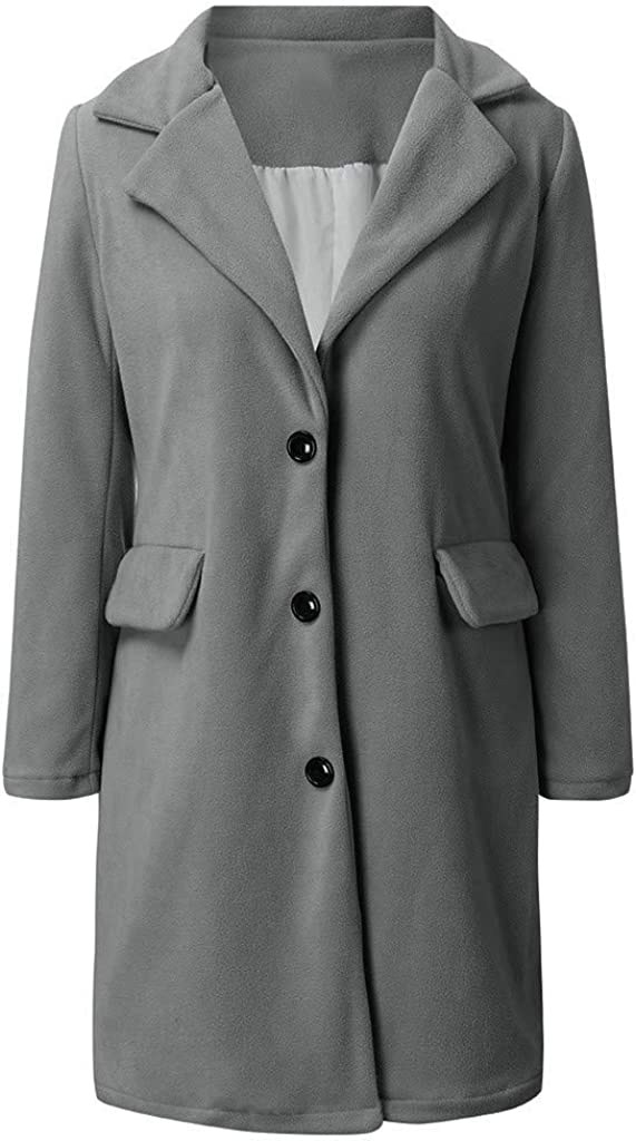 Damen Winter Mantel Blazer Wollmantel Slim Fit,Kanpola Business Frauenmantel Herbst Winter Trenchcoat Lang Warme Gro/ßE Gr/ö/ßEn /üBergangsjacke