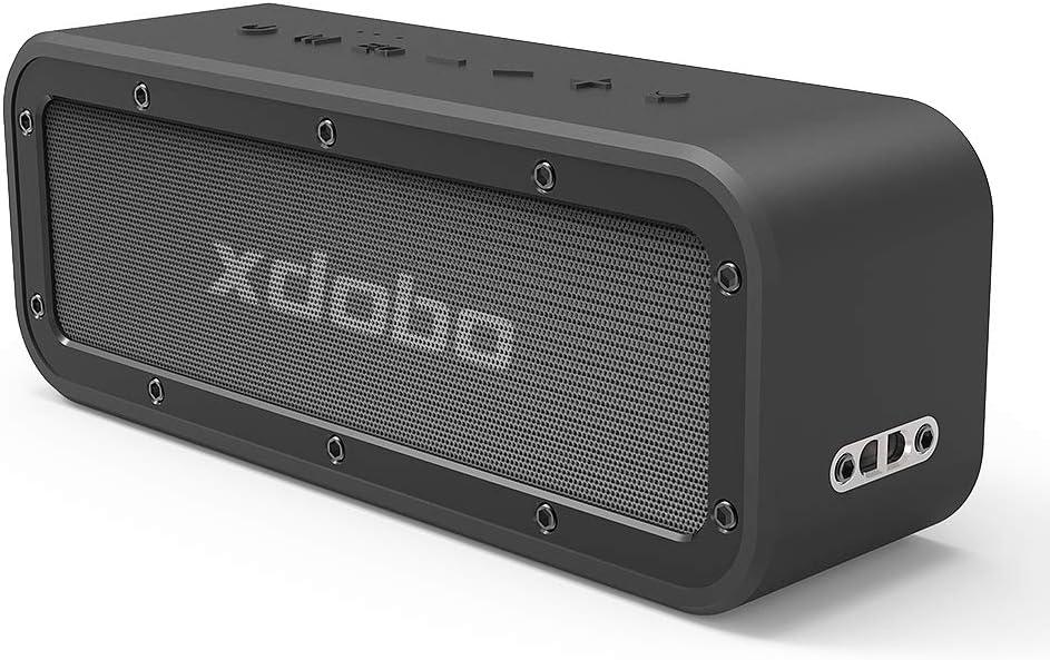 XDOBO 40W Portable Bluetooth Altavoz 4.2 Sistema 15 Horas Tiempo TWS Dual Driver Wireless Stereo paarung IPX 7 Waterproof Resistente HD Loud Sonido y Deep Bass Home Pool Beach Outdoor