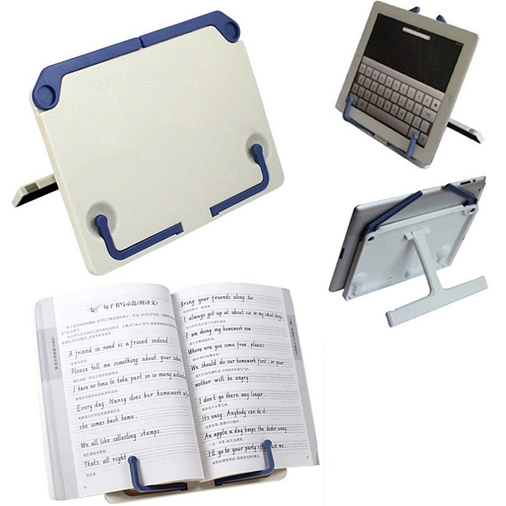 beige Adjustable Bookstand Reading Holder for Cookbook Books Music Documents iPads 210mm*160mm