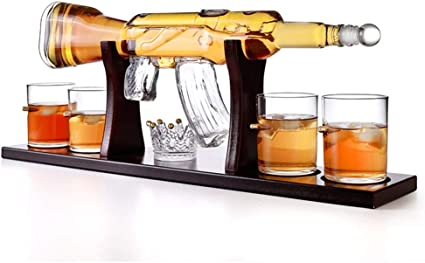 YCLED Whisky Decanter, M16 Pistola Whiskey Jarra, Jarra del ...