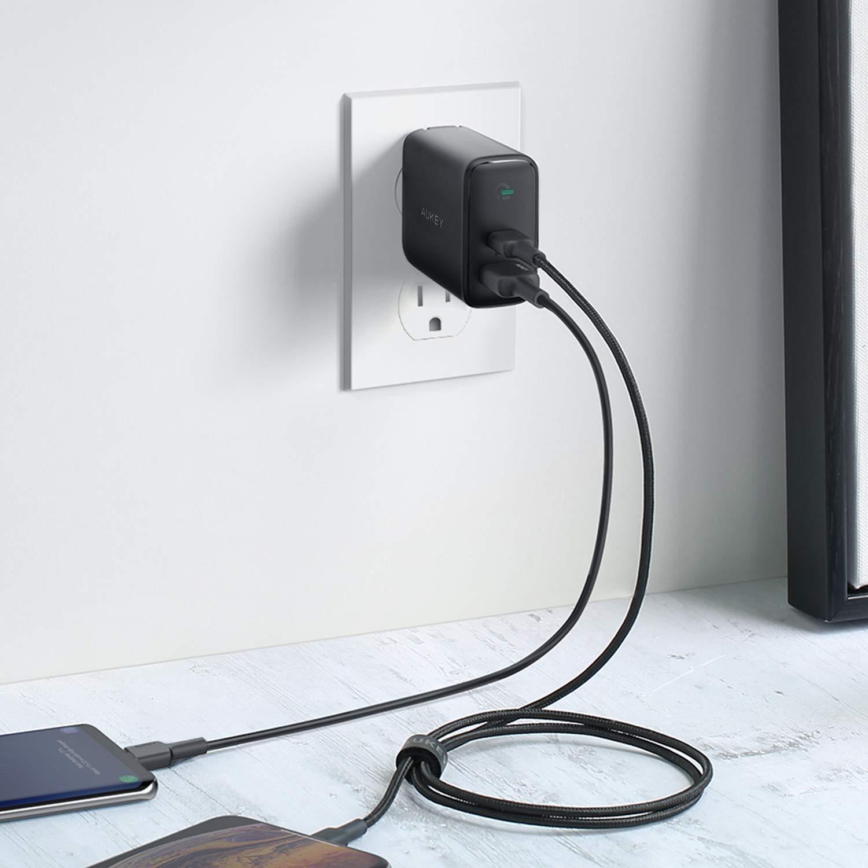 Amazon.com: AUKEY Cargador USB C con Detector Dinámico: Home ...