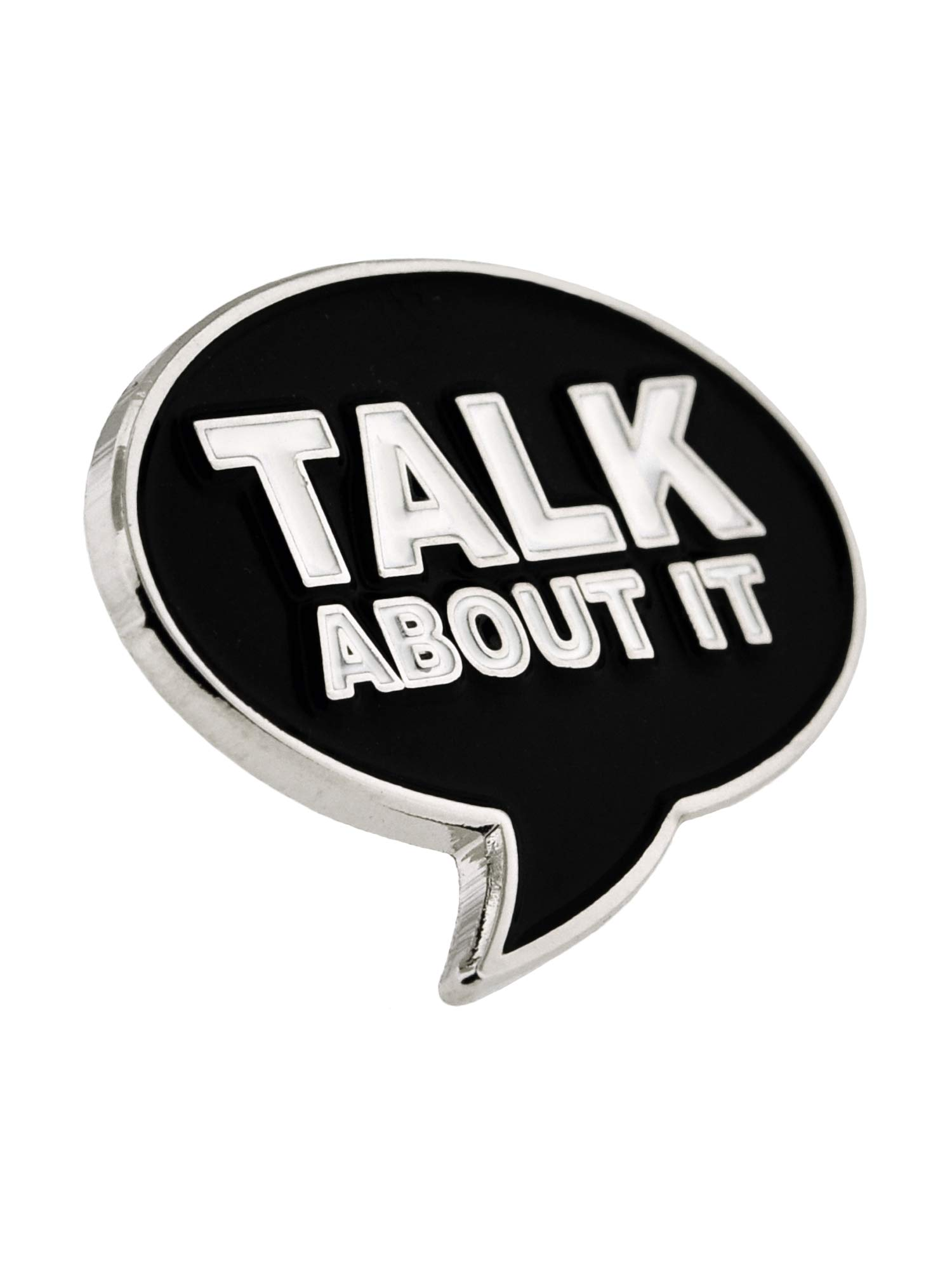 PinMart Talk About It Word Bubble Awareness for All Causes Enamel Lapel Pin by PinMart (Image #1)