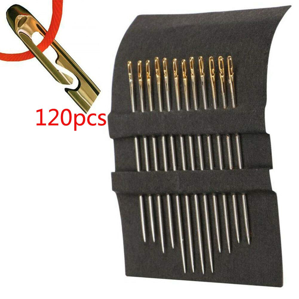 24pcs Banma Tech 12//24//48//120 pcs SELF Threading Hand Sewing Needles Simple Easy Thread Assorted Sizes