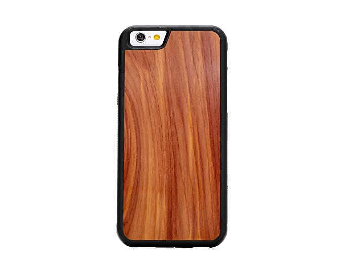 reputable site 95ae4 4af79 Carved   iPhone 6 / 6s   Luxury Protective Traveler Case   Unique Real  Wooden Phone Cover   Rubber Bumper   Eastern Red Cedar