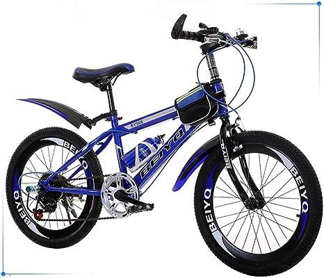 bxbx Bicicleta Plegable para niños Bicicleta de montaña de Velocidad Variable de 20 Pulgadas, sillín cómodo, Pedal Antideslizante, Freno Seguro y Sensible, Bicicleta portátil para Estudiantes: Amazon.es: Deportes y aire libre