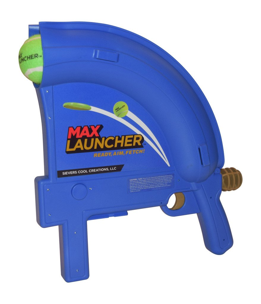 Max Launcher Dog Ball Launcher- Launches Tennis Balls and Mini Frisbee Discs up to 90 Feet!! by Max Launcher