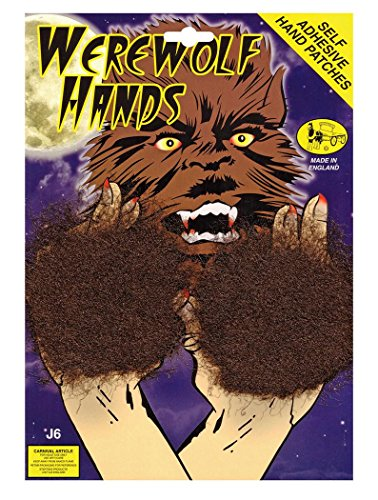 (Bristol Novelty MD066 Werewolf Hand Patches, Brown, One)