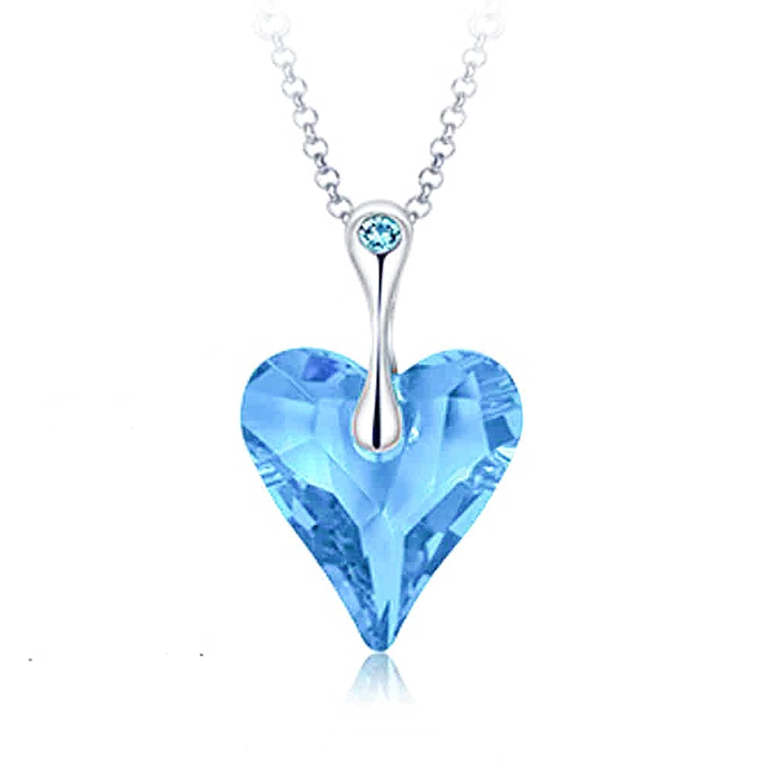 Buy yellow chimes crystals from swarovski big blue ocean heart buy yellow chimes crystals from swarovski big blue ocean heart long chain pendant for women and girls online at low prices in india amazon jewellery store aloadofball Choice Image