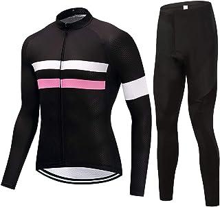 puerhki Fahrradanzug Sweatshirt Langarm-Shirt Und eine Riemchenhose Sport und Radfahren Herren Langarmtrikot Set