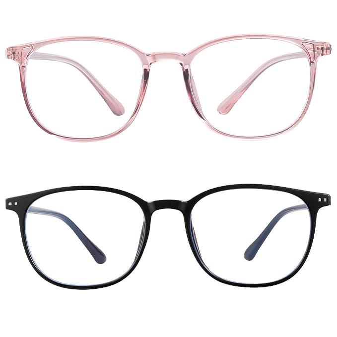 blue light blocking glasses women men-FEIDU computer fake glasses HD clear lens glasses3030 (black, 2.04) best women's blue light blocking glasses