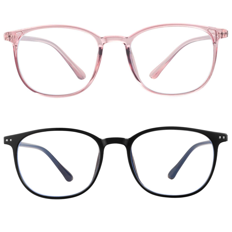 blue light blocking glasses women men-FEIDU computer fake glasses HD clear lens glasses3030 (black, 2.04)