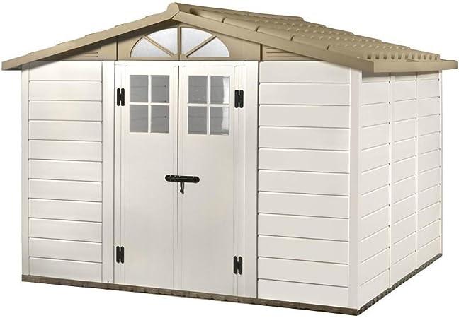 Abri De Jardin Pvc Box Porte Outils Avec Fenetre Sol Jardin Tuscany Evo 280 Amazon Fr Jardin