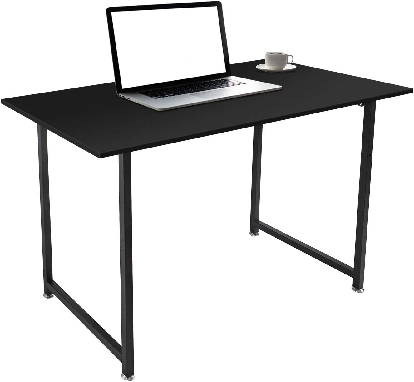 """Computer Desk 47"""" Home Office Desk Computer Desk with Storage Hook, Modern Simple Writing Study Table for Home Office,Black"""