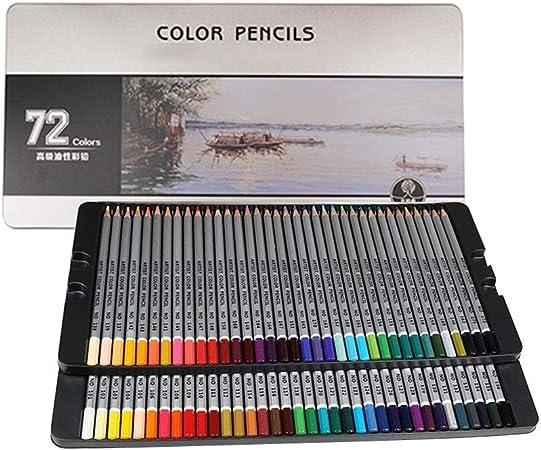 YaToy Lápices de Colores Profesionales con Estuche con 72 Unidades para Niños Regalo Escolar y Dibujo Profesional para Bullet Journal/lapices acuarelables de artística: Amazon.es: Hogar