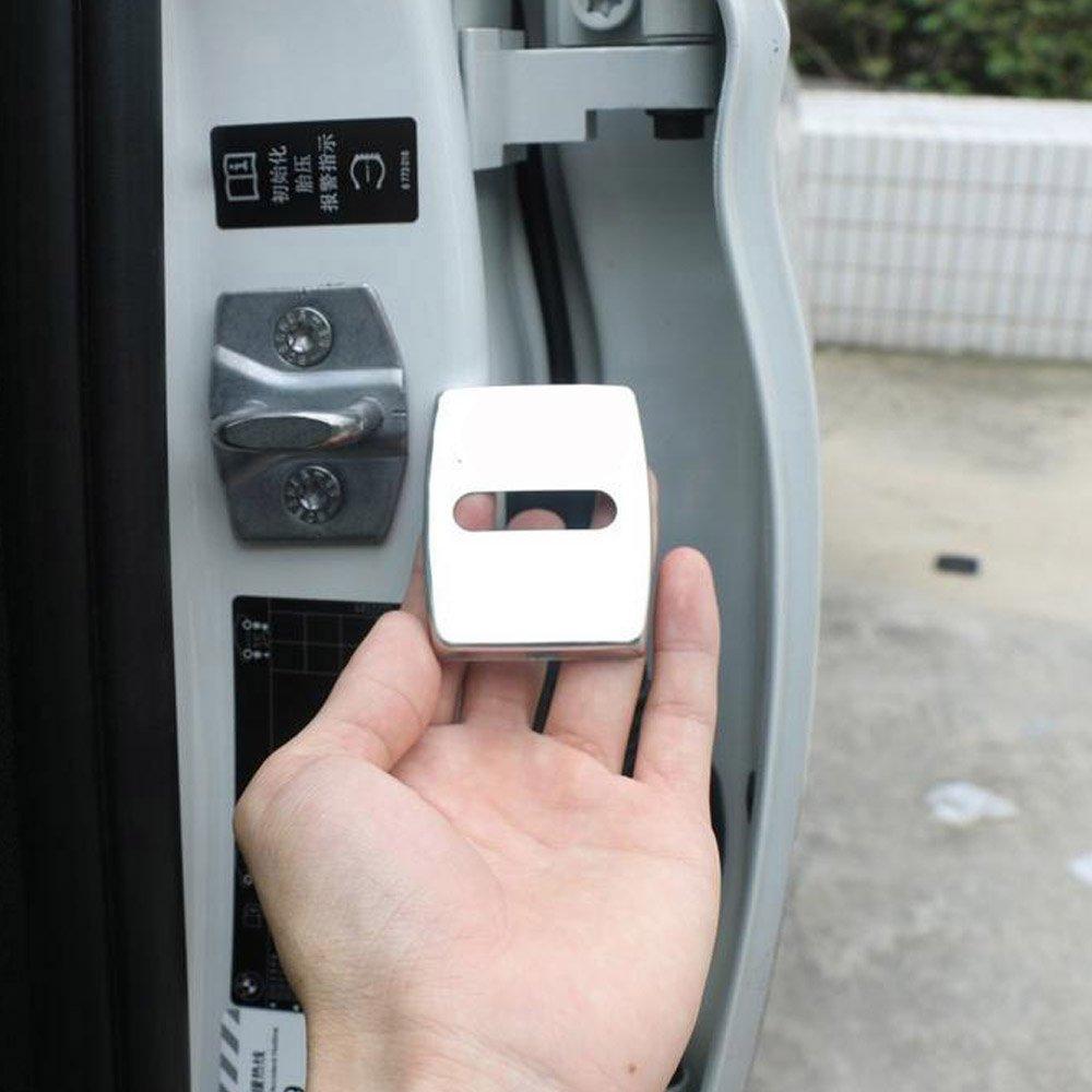 PolarLander Car Door Lock Protection Cover 4 Pezzi per Set Coperchio di Protezione della Serratura della Porta