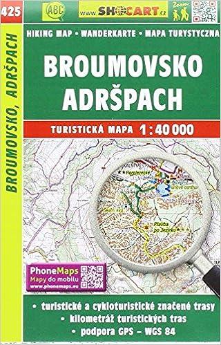 Wanderkarte Tschechien Broumovsko Adrspach 1 40 000 Turisticke