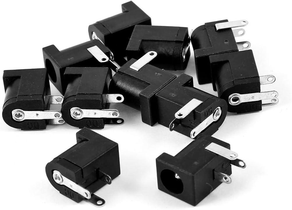 Miki/&Co 10pcs 3 /épingle PCB Accessoire 5.5x2.1mm Femelle DC Puissance Prise de Courant Douille Connecteur