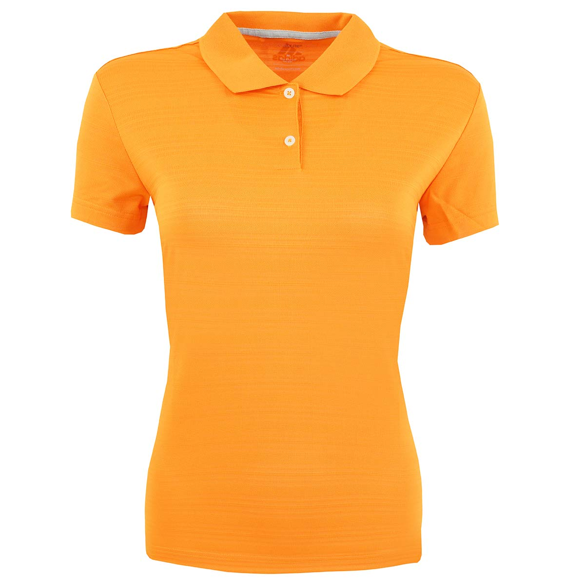 adidas Golf Womens Climalite Textured Short-Sleeve Polo (A162) -Light ORAN -S