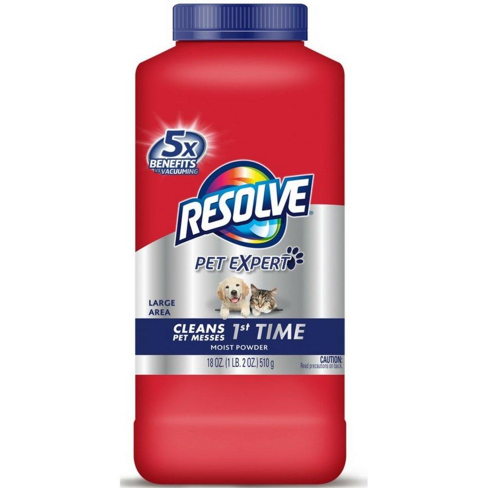 Resolve Pet Formula Carpet Cleaner Moist Powder 18 oz (Pack of 6)