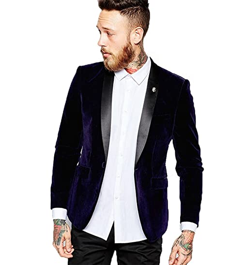 Mens velvet blazer for wedding