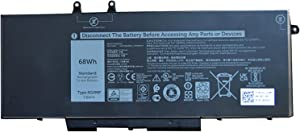 SUNNEAR 4GVMP 68Wh Battery Replacement for DELL Latitude 5400 5500 Precision 3540 3550 Inspiron 7590 7591 7791 2-in-1 Series Laptop 9JRYT RF7WM X77XY C5GV2 1V1XF R8D7N 7.6V 8500mAh