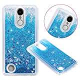 LG Aristo (MS210) / LG LV3 / LG K8 2017 Cover Case, Liquid Case, Asstar Fashion Creative Design Flowing Liquid Floating Luxury Bling Glitter Sparkle Diamond Soft Case For LG V3/MS210 (Blue)