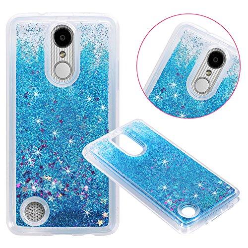 LG Aristo (MS210) / LG LV3 / LG K8 2017 Cover Case, NOKEA Soft TPU Flowing Liquid Floating Luxury Bling Glitter Sparkle Case Cover Fashion Design for LG V3/MS210 (Blue)