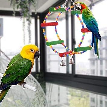 368° inspiration Juguete pájaro Colorido Safe Natural Arch Swing ...