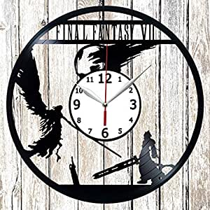 Amazon Com Final Fantasy Vinel Record Wall Clock Home Art