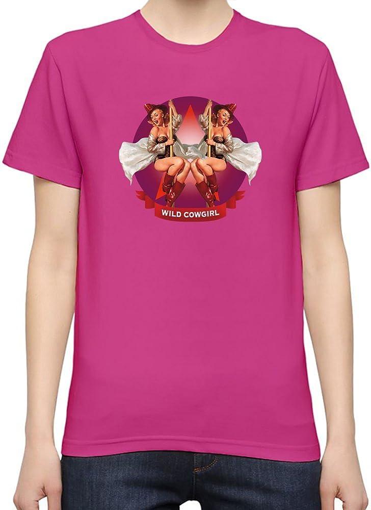 PIN UP COWGIRL Camiseta Mujeres Medium: Amazon.es: Ropa y accesorios