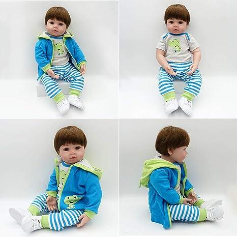 Muñeca Reborn de 24 pulgadas, realista, suave, de silicona ...