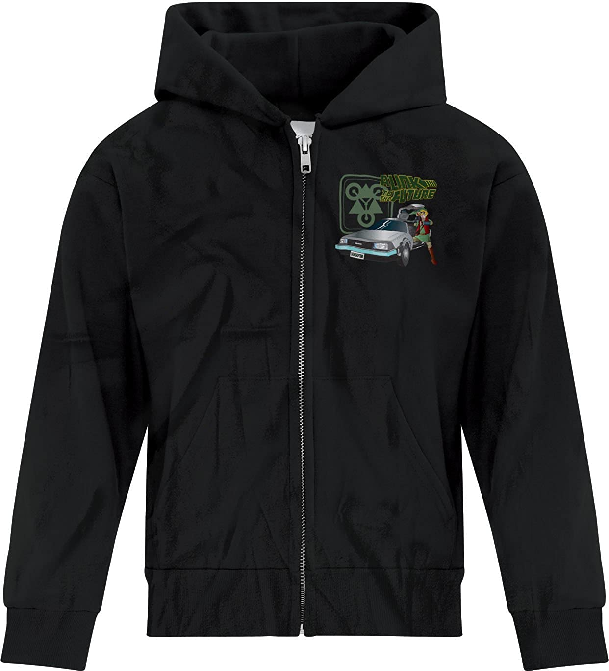 BSW Youth Boys A Link to The Future Zelda Delorean Zip Hoodie