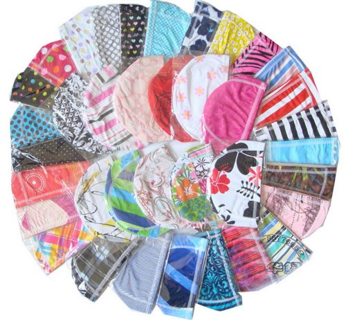 Set of 2 Elastic Spandex Swim Cap Print Cap for Kid, Women, RANDOM (Print Spandex Cap)