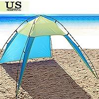 UNAKIM-UV Sun Shade Shelter Triangle Beach Tent Canopy Portable Picnic Outdoor Camping