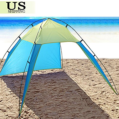 UNAKIM-UV Sun Shade Shelter Triangle Beach Tent Canopy Portable Picnic Outdoor (Pink The Store Bookbags)
