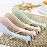 4Piece Creative Household Kitchen Tools,Lovely Squirrel Shape Standing Spoon Non-stick Rice Spoon Fashion Rice Cooker Dishes