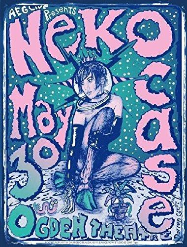 Neko Case Rare Ltd Edition Boulder Ogden Theatre S/N Silkscreen Concert Poster