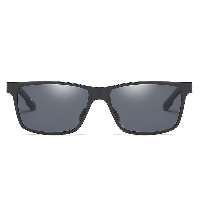 BVAGSS Herren Sportbrille Polarisierte Sonnenbrille Aluminium Magnesium Driving Gläser (Black Frame With Gray Lens) Co3jc