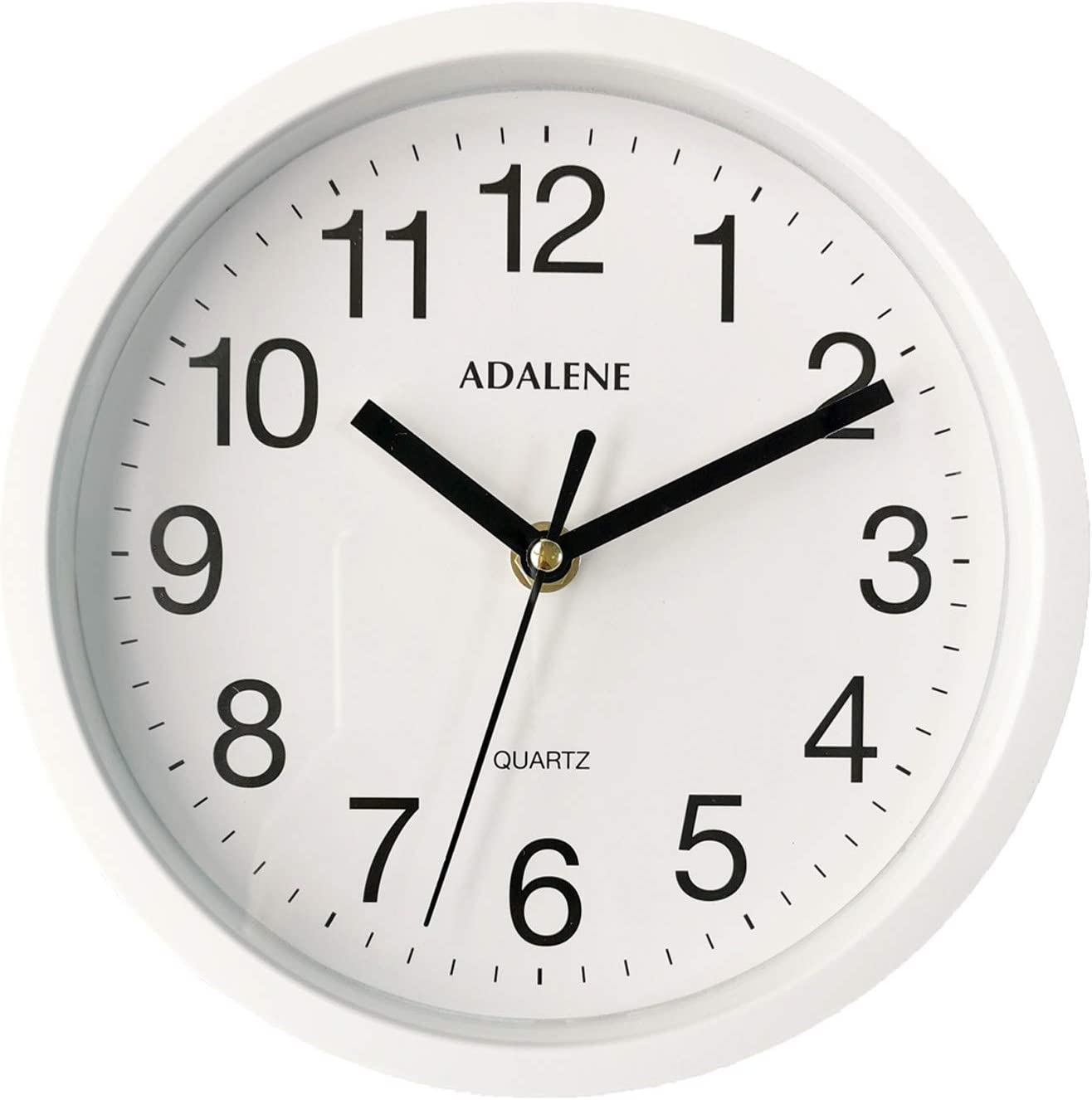 Battery Operated Quartz Analog Quiet Wall Clock Bedroom Adalene 13 Inch Large Non Ticking Silent Wall Clock Decorative for Living Room Kitchen