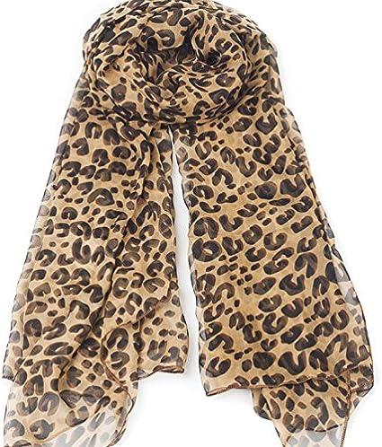 Ladies Large Animal Leopard Print Scarf Blue Tone Wrap Scarves New UK Stock